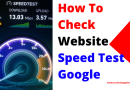 How to Check website speed test google