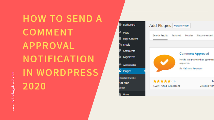 How to Send a Comment Approval Notification in WordPress 2020