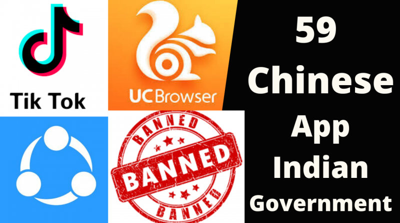 59 Chinese App Ban in India